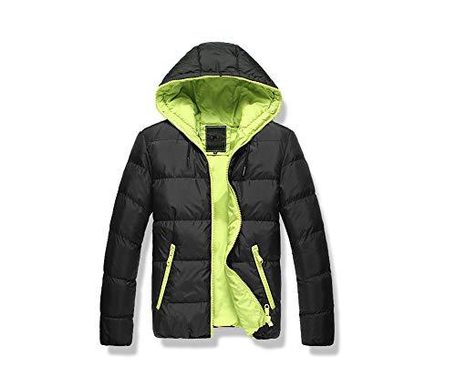 LANBAOSI Masculine Hiver Puffy Doudoune épaissir Manteau avec Capuche Veste à Fermeture éclair