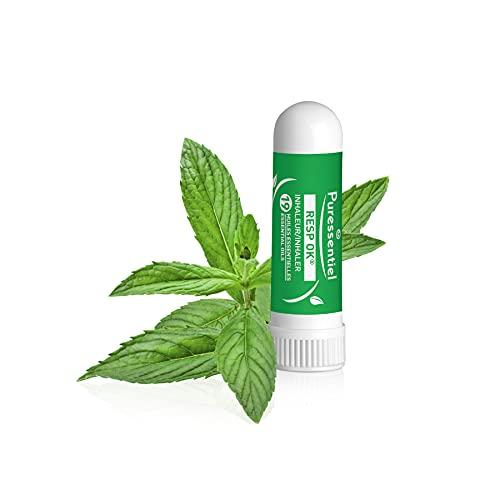 Puressentiel - Resp OK - Inhaleur Respiratoire - Aux 19 huiles essentielles bio - Menthol et camphre naturels - Aide à respirer plus librement - 1 ml