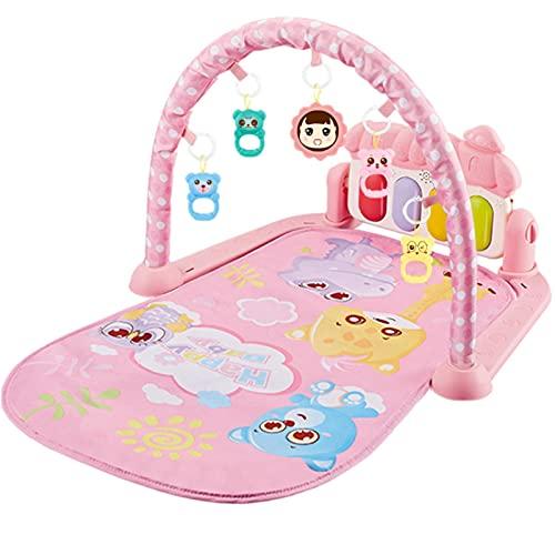 VIVILIAN Baby Play Mat - Gimnasia de Actividad para Bebé Infantil Desmontable, Kick Play Piano Gym con Luz y Regalo de Música para Bebé
