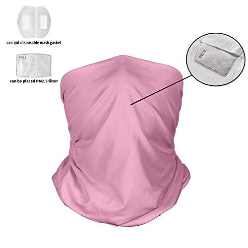 Aktivkohle Staubdichte Gesichtsabdeckung, Schutzgesichtsabdeckung für Frauen, 5-lagige austauschbare Filtergesichtsabdeckung Waschbare wiederverwendbare Fahrradabdeckung für Männer Frau (Pink Brown),A