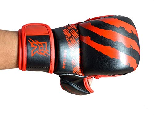 Red Claw Grappling Handschuhe MMA Handschuhe Boxhandschuhe Thai Boxen Gloves Free Fight Gloves RC03 (Rot, M)