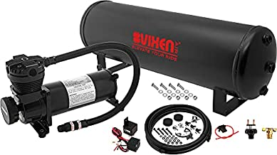 Vixen Air Suspension Kit for Truck/Car Bag/Air Ride/Spring. On Board System- 200psi Compressor, 4 Gallon Tank. for Boat Lift,Towing,Lowering,Leveling Bags,Onboard Train Horn,Semi/SUV VXO4841B