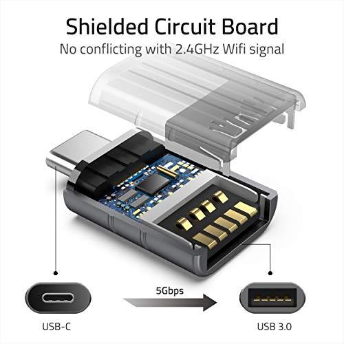 Syntech USB C Adapter auf USB 3.0[2 Stücke] OTG USB Typ C Adapter,Thunderbolt 3 to USB 3.1,Kompatibel mit iPad Pro 2020, Huawei Mate 20, MacBook Pro 2019/Air 2020,Samsung Galaxy,Surface Go