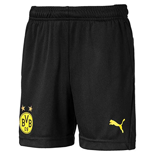 PUMA Kinder BVB Training Shorts Jr Pockets with Zippers Trainingsshorts, Black, 140