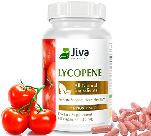 Lycopene 30 mg – All Natural Prostate Supplements for Men. Promotes Heart Health. Menopause and Bone Health Support. Non GMO - by Jiva Botanicals