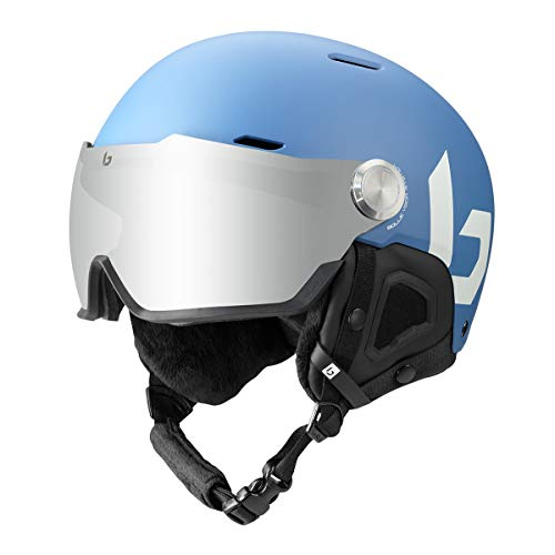 Bollé Unisex– Erwachsene Might Visor Skihelme, Yale Blue Matte, 55-59 cm