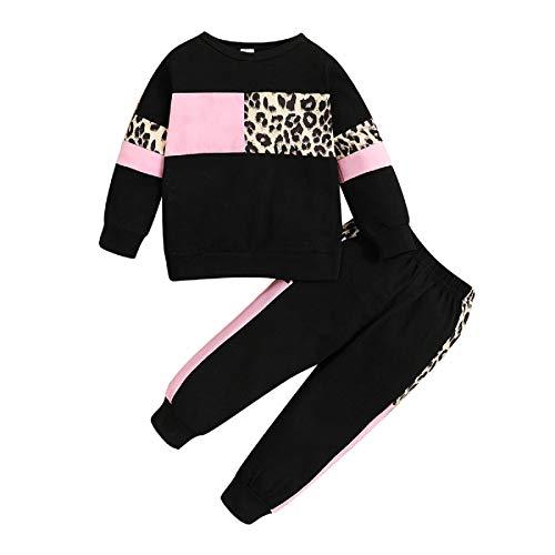 Borlai 2Pcs Baby Mädchen Hoodie Trainingsanzüge Outfits Pullover Kapuze Sweatshirt Hosen Kleidung Set 1-5 Jahre