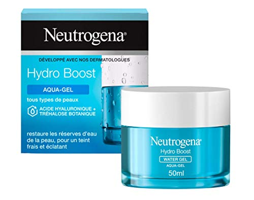 Neutrogena Hydro Boost Aqua-Gel, Crème Hydratante Visage à l'Acide Hyaluronique, Soin Visage, 1 Pot de 50ml