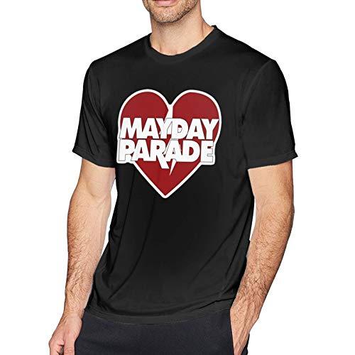 DianaTDoyal MayDay Parade Logo Men Music Cotton Round Neck Short Sleeve T Shirts Black Large