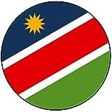 Decoración para tarta de Namibia, redonda, círculo, 20 cm, cumpleaños, fiesta, celebración, evento