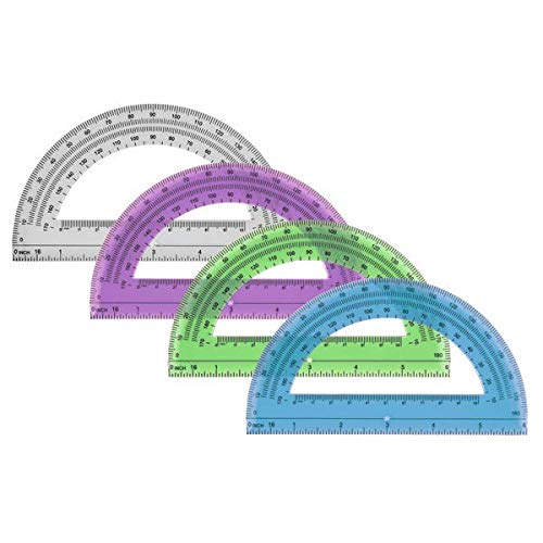 Office Depot Semicircular 6in. Protractor, Clear, 973D OD8