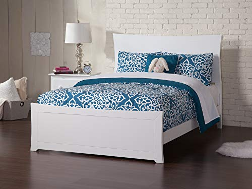 Atlantic Furniture Metro Traditional Bed with Matching Foot Board, Full, White