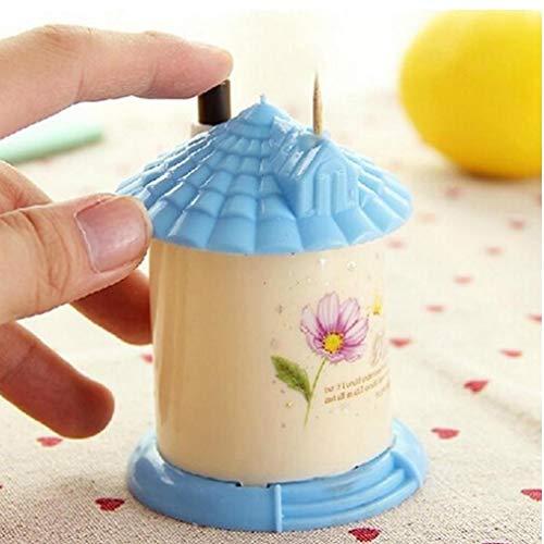 Haus geformt automatische Zahnstocher Inhaber Tasche Kleine Toothpickkasten
