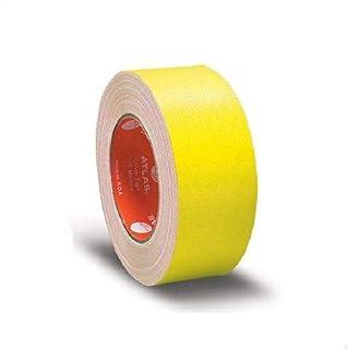 شريط قماشي لاصق من اطلس، لون اصفر - مقاس 1 انش ×25 متر (25 ملم)
