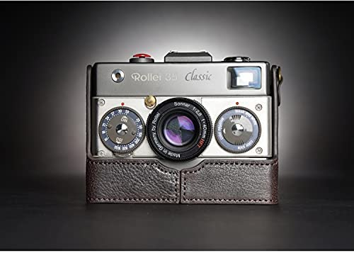 Handmade Genuine Leather Half Case for Compatible Topics on TV Cheap super special price with 35 Rollei