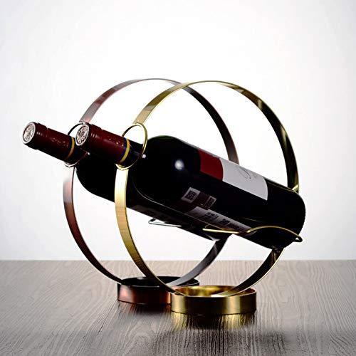 Wyxy Moderno círculo Hueco Soporte de Vino de Acero Inoxidable Mesa de Restaurante Soporte de Botella Bar en casa Estante de Vino Fiesta de cumpleaños Herramientas