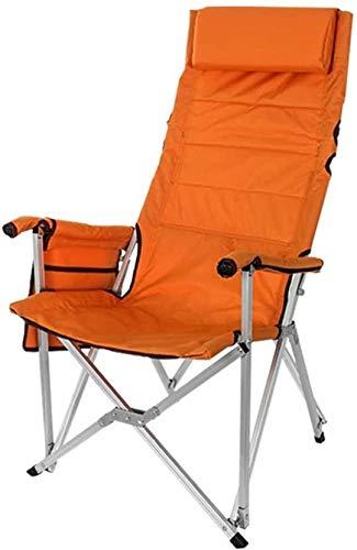 Lanrui Acampar al Aire Libre sillas de Playa Plegable for Trabajo Pesado 200 kg Silla Plegable con la Silla del Asiento con Respaldo Alto con Bolsillo de Almacenamiento for la Pesca Senderismo