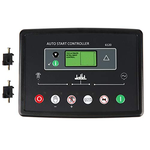LANTRO JS - Controlador de generador DSE6120 Panel de control electrónico para motor diesel o generador, arranque/parada automáticos, protección