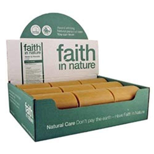 Faith in Nature All-Natural Bar Soap, Neem (100 gram Bars, Bulk Pack of 18); Pure Hand and Body Soap Handmade w/Citrus Aromatherapy and Essential Oils, Vegan and Cruelty-Free