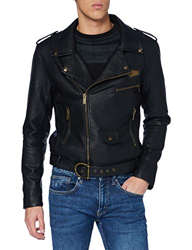 Gianni Kavanagh Black Biker Jacket Hombre