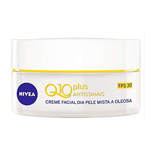 Creme Facial Antissinais Dia Nivea Q10 Plus Pele Mista A Oleosa Fps30 50Ml, Nivea