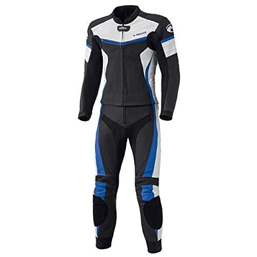 Held 2-teiliger Anzug SPIRE Herren Rindsleder, schwarz-blau, SAS-TEC Steißbeinschutz, Belüftungsreißverschlüsse, Stretch Bündchen 60