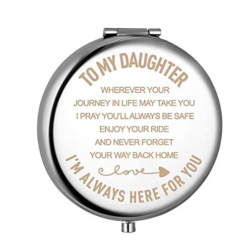 Daughter Gifts from Mom and Dad,Christmas Birthday Gift for Daughter Adult or Girls,Mother Daughter Gifts Compact Mirror