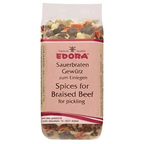 Premium Qualität Gewürz EDORA Beutel Tüte Sauerbraten-Gewürz Sauerbraten zum Einlegen Wildbraten 45 Gramm