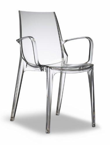 Set 2 pz. Poltrona Vanity Scab Design-Trasparente