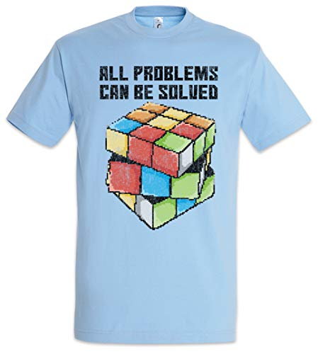 Urban Backwoods All Problems Can Be Solved Camiseta De Hombre T-Shirt Azul Talla S