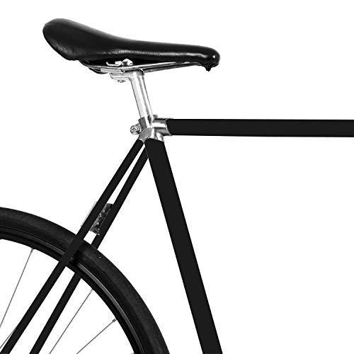 MOOXIBIKE Schwarz Matt Fahrradfolie für Rennrad, MTB, Trekkingrad, Fixie, Hollandrad, Citybike, Scooter, Rollator für circa 13 cm Rahmenumfang