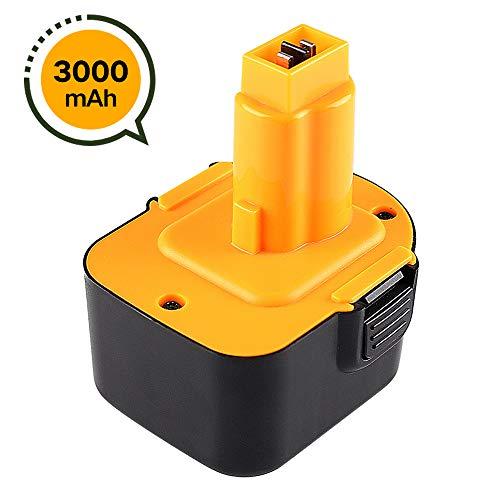 DE9071 3000mAh Ni-MH Sostitutiva per Dewalt 12V Batteria DC9071 DE9074 DW9072 DW9071 DW9072 DE9075 DE9501 DE9037 DE9072 Attrezzo Elettrico Senza Fili