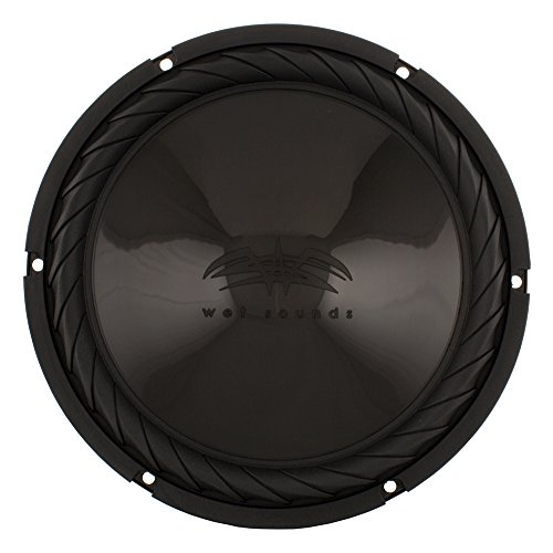 Wet Sounds SS-10BS4 Black 10' Single 4 Ohm Subwoofer - 250 Watt RMS