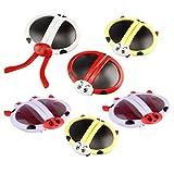 NUOBESTY 6 Piezas Gafas Divertidas Gafas de Sol de Fiesta Gafas de Mariquita Gafas de Sol Disfraz para niños favores de Fiesta Suministros Divertidos para Fiestas (Color Aleatorio)