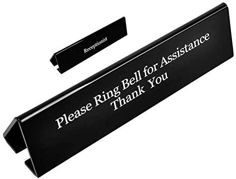 NO Receptionist Desk Sign Columbus Mall UCEC Office Bell The Ring Please All items free shipping