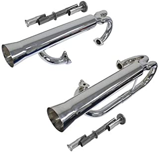 EMPI 3459 CHROME Competition Exhaust 1 5//8 w// STRAIGHT STINGER T1 1300-1600cc Based Engines