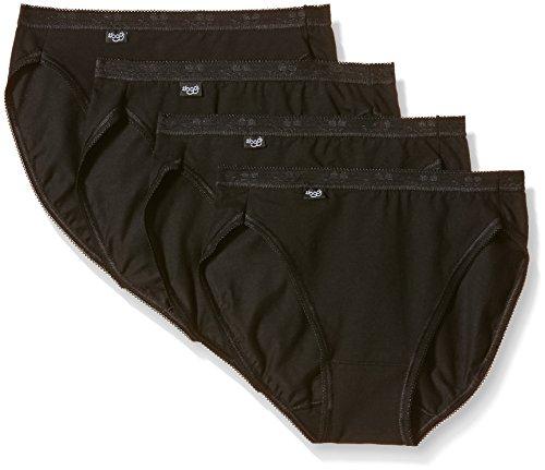 Sloggi Damen Bikinislip, 4er Pack, Gr. 42, Schwarz - Schwarz