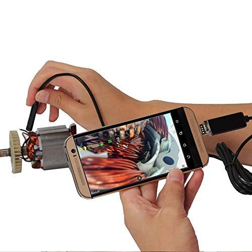 H.Y.FFYH Endoskop USBendoscope Teslong 5.5mm Borescope Inspection-Kamera for Android von Windows mit 6 Angeführt Inspektion (Color : Hard, Size : 5M)
