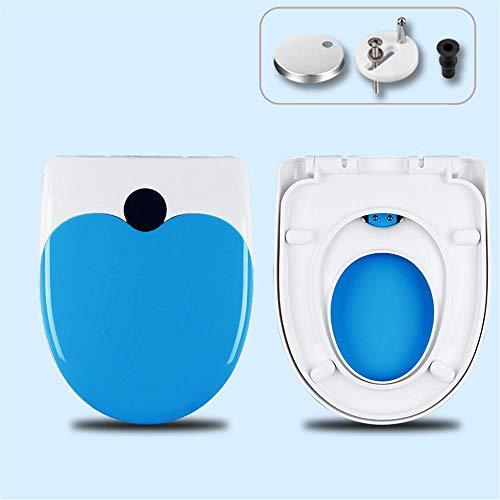 Eltern Kind Toilettendeckel, Premium Soft Close Toilettensitz, Schnellverschluss, für junge Familien | Kinderfreundlicher