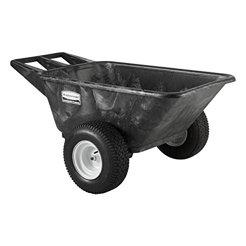 Rubbermaid Commercial Heavy Duty Big Wheel Cart, 700 lbs. Capacity, Black, FG564210BLA