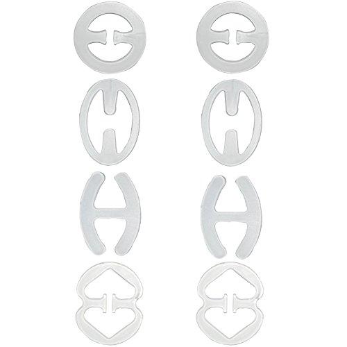 Closecret Women's Bra Strap Converter Concealer Racerback Back Clip(Clear,Pack of 8)