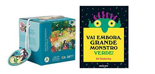 Jogo da Memória Folclore 24 peças e livro Vai Embora Grande Monstro Verde