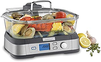 Cuisinart Digital Glass Steamer, One Size, Stainless Steel