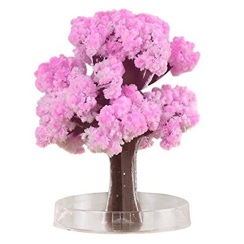 Gelentea Magia Albero Crescente Carta Sakura Crystal Trees Desktop Cherry Blossom Giocattoli Creativi Decompressione Regalo Per Amici Maschi e Femminili (Cherry tree)