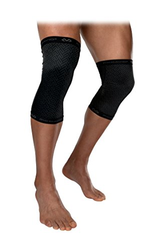 McDavid Crossfit & Powerlifting - Rodilleras (1 par), rodilleras de apoyo y compresión para mejorar el rendimiento de levantamiento de pesas y apoyo para hombres y mujeres - MDX605-01-35, XL, Negro