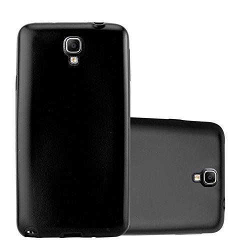 Cadorabo Funda para Samsung Galaxy Note 3 Neo en Metallic Negro – Cubierta Proteccíon de Silicona TPU Delgada e Flexible con Antichoque – Gel Case Cover Carcasa Ligera