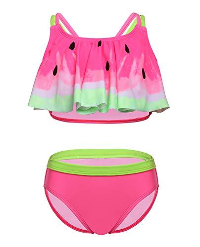 iDrawl Baby Bikini Set Rosa Wassermelone Bademode für Mädchen 5-6 Jahre Alte
