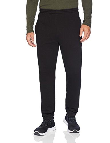 Amazon Essentials Men's Closed Bottom Fleece Pant, Black, Medium