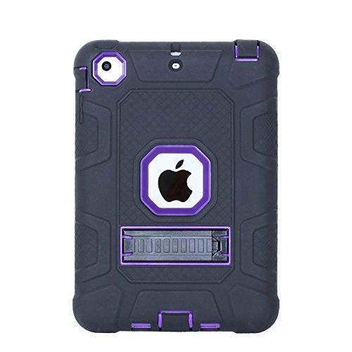 Funda para iPad Mini, iPad Mini 2, iPad Mini 3, Jeccy 3 en 1 con absorción de golpes, funda protectora híbrida resistente con función atril para Apple iPad Mini 1/2/3