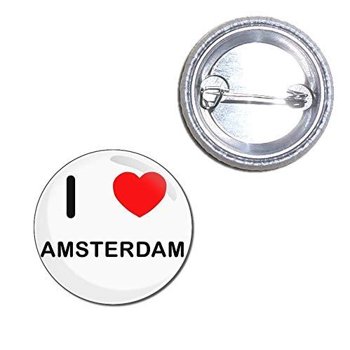 I Love Amsterdam - 25mm Button Badge